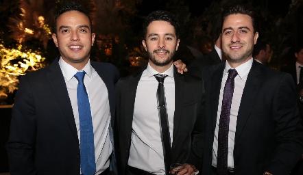 Toño Méndez , Juan Carlos Dibildox y Rogelio Pacheco.
