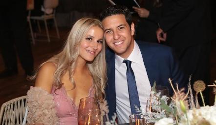 En la boda de Martha y Daniel.