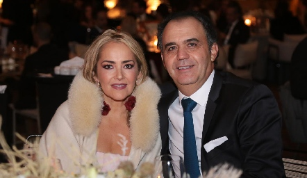 Claudia del Pozo y Héctor Mahbub .