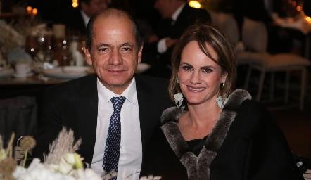 Elías Abud y Rocío Gómez .