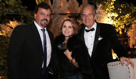 Héctor Gómez, Ana Isabel Gaviño y Francisco de la Rosa.