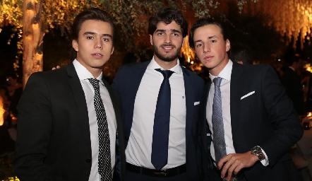 Oscar Ruiz, Santiago Gómez y Rodrigo Navarro.