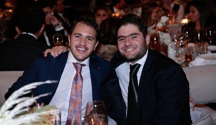 Andrés de los Santos y Jorge Esper.