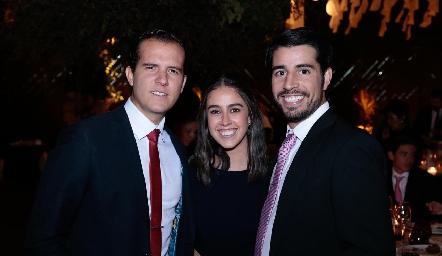 Juan Fer Rojas, Natalia Navarro y José Manuel Lázaro.