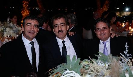 Horacio Tobías, Gabriel Torres y Gerardo Rodríguez.