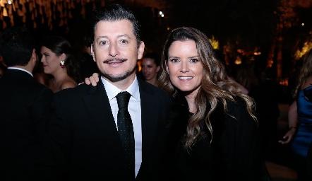 Horcio Lizaola y Paola Celis.