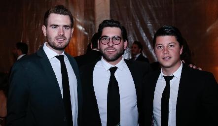Jorge Gómez, Jorge Antonio Esper y Santiago González.