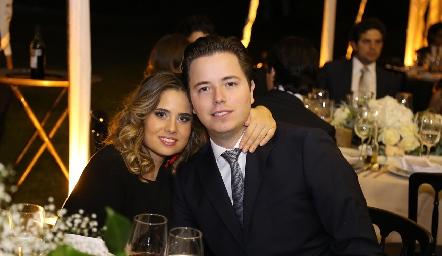 Nuria Alcalde y Pablo Herrera.