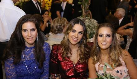 Daniela Saiz, Gabriela Torres y Lucía Martín Alba.
