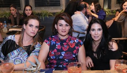 Hanni Abud, Isabel Guzmán y Paty Guerrero.
