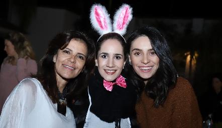 Patricia Silos, Dany Mina y Adri de la Maza.