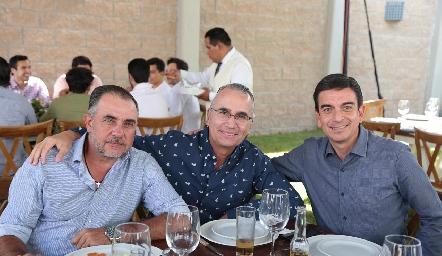 Javier Alcalde, Ricardo Balbontín y Óscar Silos.