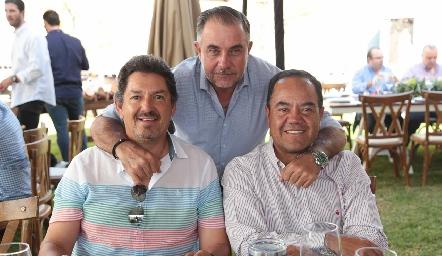 Dagoberto Castillo, Javier Alcalde y Alejandro Aguillón.