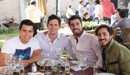 Lisandro Bravo, Enrique Villarreal, José Manuel Lázaro y Fernando Díaz de León.
