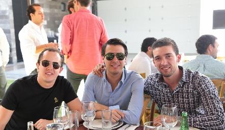 Santiago Aguillón, Jojo Torre y Johan Werge.