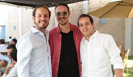 Octavio Aguillón, Pato Valle y  Alejandro Sanvela.