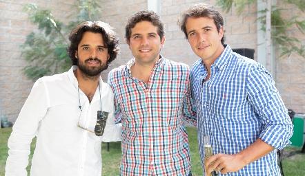 Samuel Romo, Fico Díaz Infante y Javier Meade.