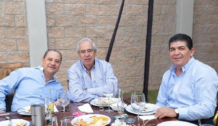 Héctor Valle, Rolando Domínguez  y Antonio Morales.