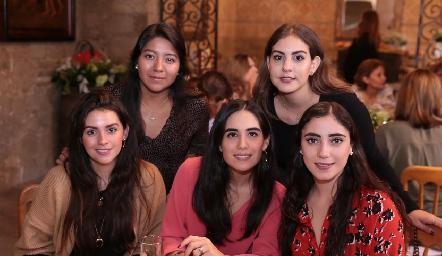 Ana Mercedes Cifuentes, Isa Castelo, Vicky Álvarez, Mariana Rodríguez e Isa Zollino.