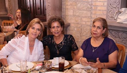 Rosy Mercado, Carmelita e Isabel Torres Corzo.