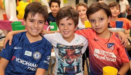 Mauricio, Mateo y Patricio.