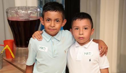 Sebastián y Santiago García.