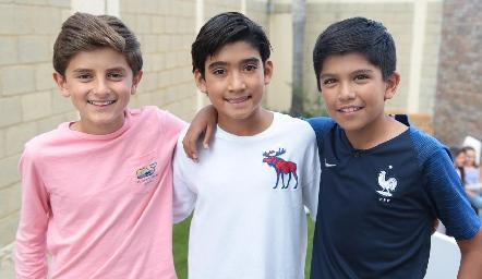 Marcelo, Sebastián y Emmanuel.