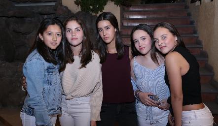 María, Pamela, Isa Gutiérrez, Cassandra Santos y Emilia González.
