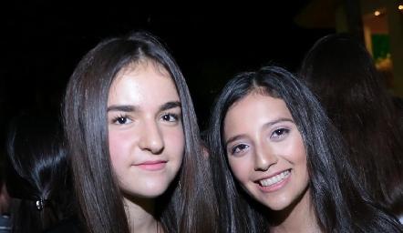 Clau Torres y Sofía Monzón.