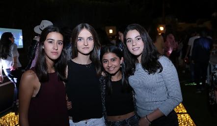 Isa Gutiérrez, Camila Bárcena, Gaby Fonseca y Sigrid Zendejas.