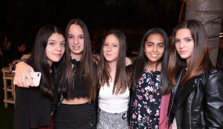 Pau Pérez, Marijó Pillado, Mariana Aguilar, Lili Medina y Camila Valladares.