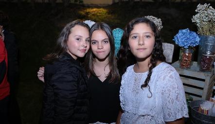 Emilia González, Daniela Argüelles y Vero Espinosa.