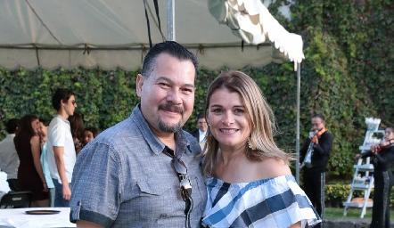 Carlos Díaz y Claudia Zermeño.