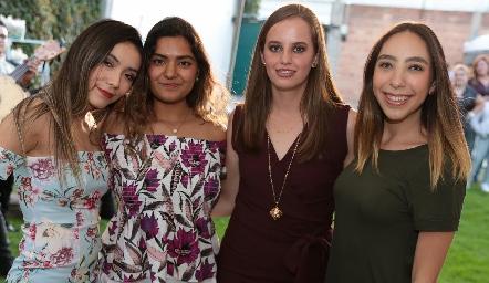 Luisa Fernanda, Alejandra Noyola, Marisa Michel y Ana Lu Chevaile.