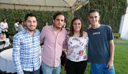 Mariano Álvarez, Andrés Rodríguez, Marcela Michel y Luca.