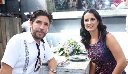 Mario Mercado y Sandra Villasuso.