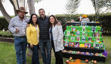 Jaime Ascanio, Marcela de la Maza, Gerardo Galván y Rocío Ortuño.