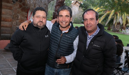 Alejandro Medlich, Martín de la Rosa y Leo Martínez.