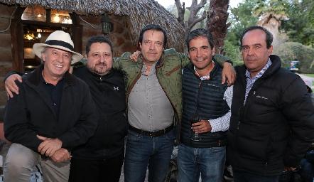 Jorge Gómez, Alejandro Medlich, Juan Carlos de la Rosa, Martín de la Rosa y Leo Martínez.