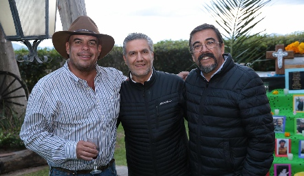 Jaime Ascanio, Juan Manuel Piñero y Gerardo Galván.