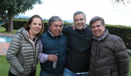 Paty Fernández, Gerardo Córdova, Juan Manuel Piñero y Galo Galván.
