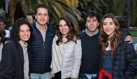 Cayetana Gómez, Rodrigo Díaz de León, Montse Piñero, Tian Garza y Nuria Minondo.