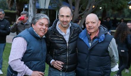Gerardo Córdova, Marcelo de los Santos y Bernardo Meade.