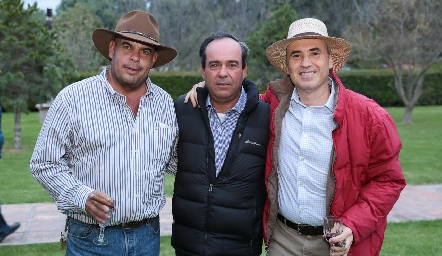 Jaime Ascanio, Leo Martínez y Alejandro Navarro.