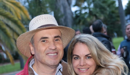 Alejandro Navarro y Daniela Serment.