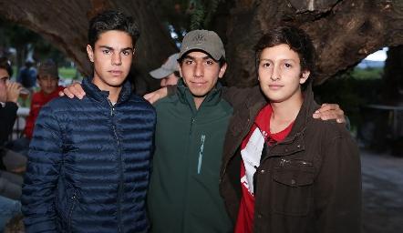 Sebastián Leos, Alejandro Medlich y Lucas Zacarías.