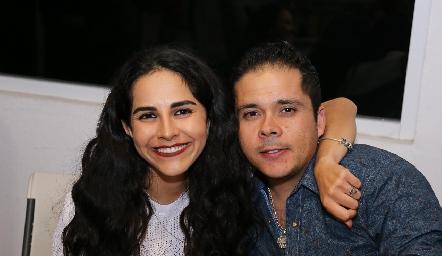 Claudia Estrada y Enrique Gaviño.