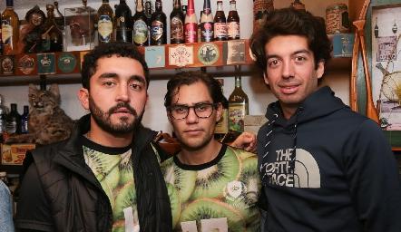 Alfonso Jerez, Joel y José Antonio Villanueva.
