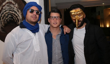 Rodolfo Ortega, Santiago González y Oscar Cadena.