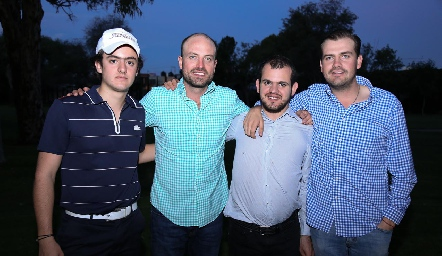 Rodrigo Abud, José Eduardo Gómez, Elías Abud y Miguel Gómez.